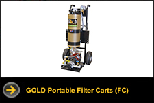 gold portable filter carts