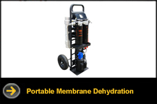 portable membrane dehydration system