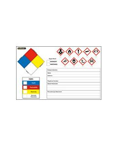 GHS/HMIS/OSHA/NFPA Label
