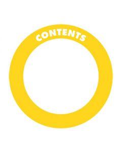 "Adhesive Contents Labels 2"" Circle"